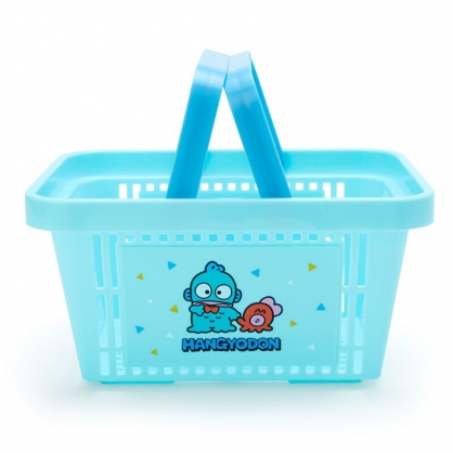 小禮堂 海怪 塑膠手提置物籃 購物提籃 浴室收納籃 瓶罐架 (藍綠 朋友)