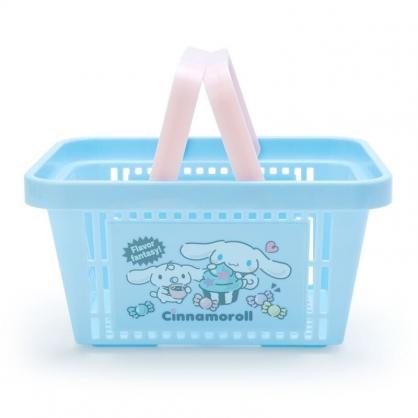 小禮堂 大耳狗 塑膠手提置物籃 購物提籃 浴室收納籃 瓶罐架 (藍粉 甜點)