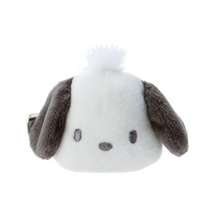 小禮堂 帕恰狗 造型絨毛鐵髮夾 小髮夾 瀏海夾 造型髮夾 (白 大臉)