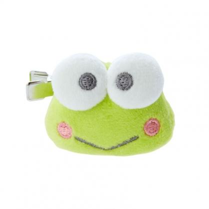 小禮堂 大眼蛙 造型絨毛鐵髮夾 小髮夾 瀏海夾 造型髮夾 (綠 大臉)