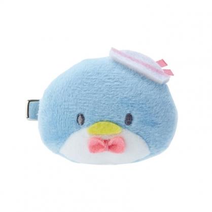 小禮堂 山姆企鵝 造型絨毛鐵髮夾 小髮夾 瀏海夾 造型髮夾 (藍 大臉)