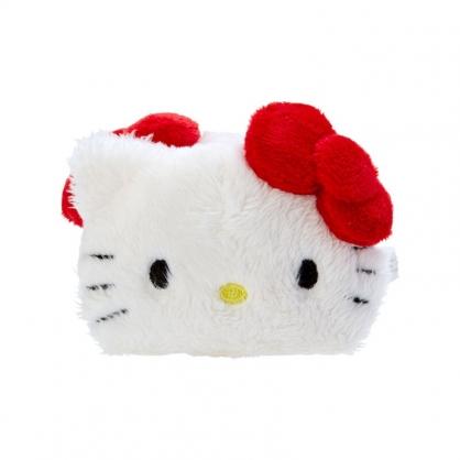 小禮堂 Hello Kitty 造型絨毛鯊魚夾 絨毛髮夾 小髮夾 抓夾 (紅白 大臉)
