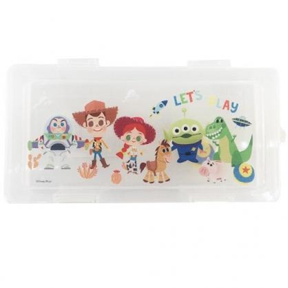 小禮堂 迪士尼 玩具總動員 方形掀蓋塑膠收納盒 透明收納盒 飾品盒 小物盒 760ml (Q版)