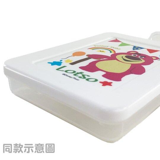 小禮堂 迪士尼 玩具總動員 三眼怪 方形掀蓋塑膠收納盒 隨身收納盒 飾品盒 小物盒 150ml (白 三隻)