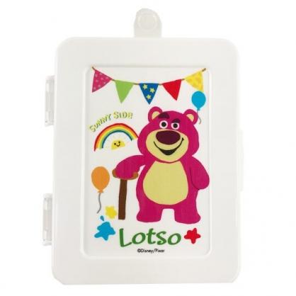 小禮堂 迪士尼 玩具總動員 熊抱哥 方形掀蓋塑膠收納盒 隨身收納盒 飾品盒 小物盒 150ml (白 彩虹)