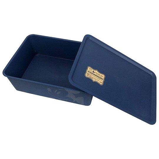 小禮堂 迪士尼 米奇 日製 方形塑膠拿蓋收納箱 玩具箱 衣物箱 9L (M 深藍 大臉)