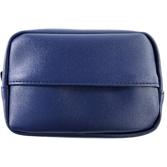 小禮堂 史努比 方形皮質化妝包 面紙化妝包 小物包 面紙包 (深藍 刷地)