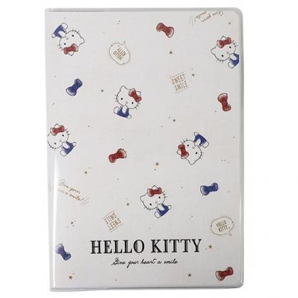 小禮堂 Hello Kitty 日製 2021 B6行事曆 手帳 年曆 記事本 (米藍 滿版)
