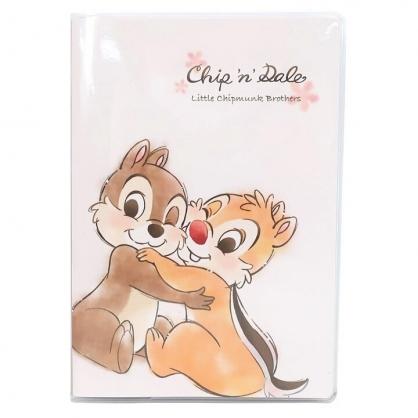 小禮堂 迪士尼 奇奇蒂蒂 日製 2021 B6行事曆 手帳 年曆 記事本 (白棕 抱抱)
