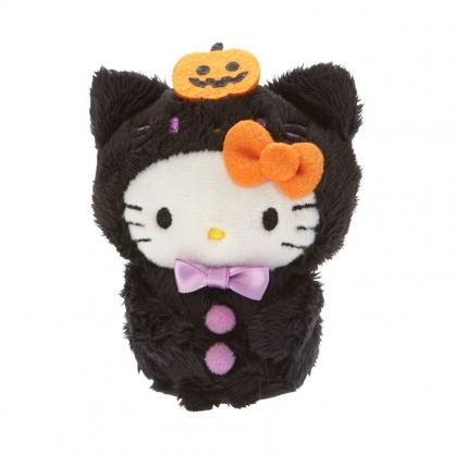 小禮堂 Hello Kitty 迷你沙包玩偶 絨毛玩偶 沙包娃娃 (黑橘 2020萬聖節)