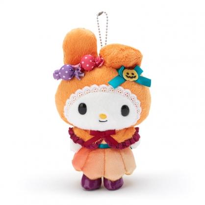 小禮堂 美樂蒂 絨毛吊飾 玩偶吊飾 玩偶鑰匙圈 (橘紫 2020萬聖節)