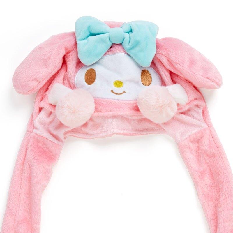 小禮堂 美樂蒂 造型耳朵動動玩偶帽 絨毛玩偶帽 兔耳帽 (粉藍 應援啦啦隊)