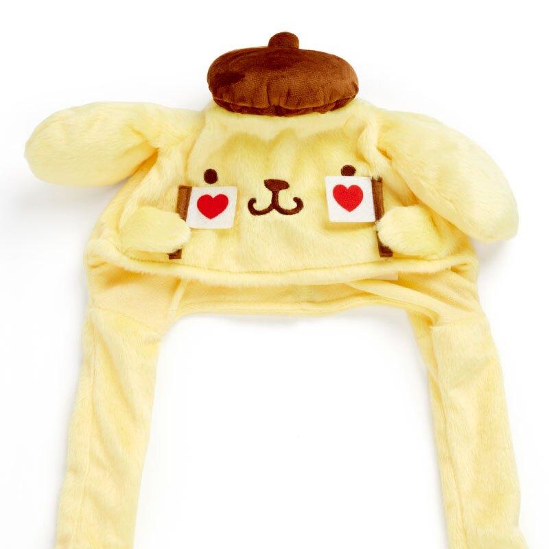 小禮堂 布丁狗 造型耳朵動動玩偶帽 絨毛玩偶帽 兔耳帽 (黃棕 應援啦啦隊)