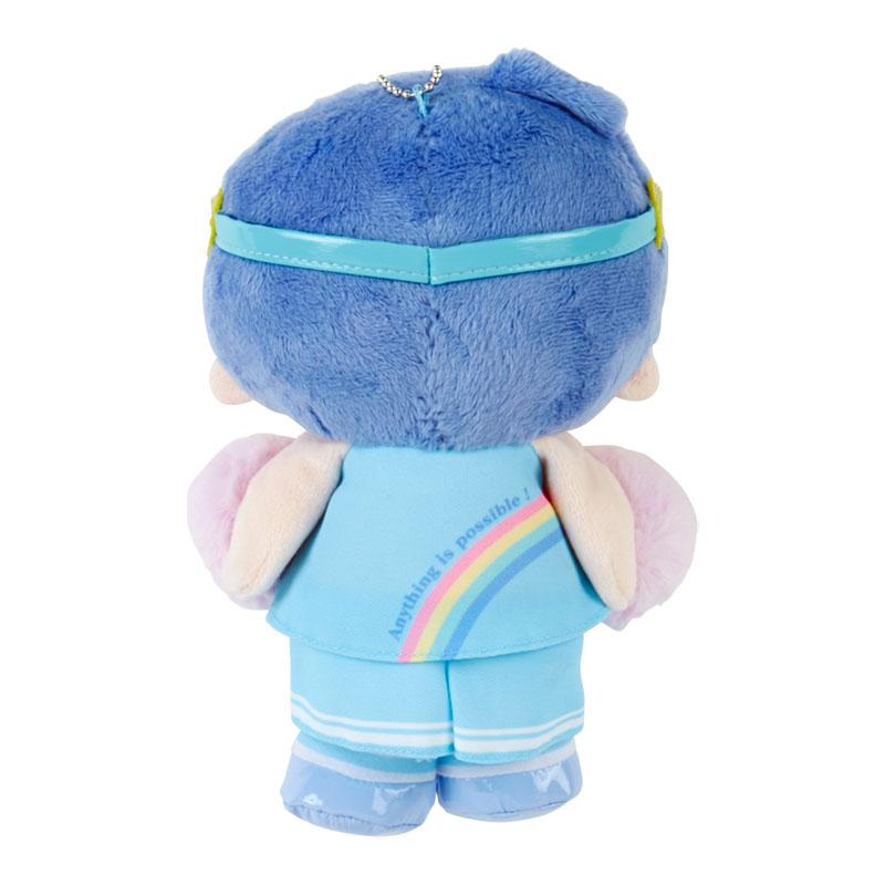 小禮堂 雙子星KIKI 絨毛吊飾 附頸掛繩 動動玩偶 玩偶吊飾 (藍紫 應援啦啦隊)