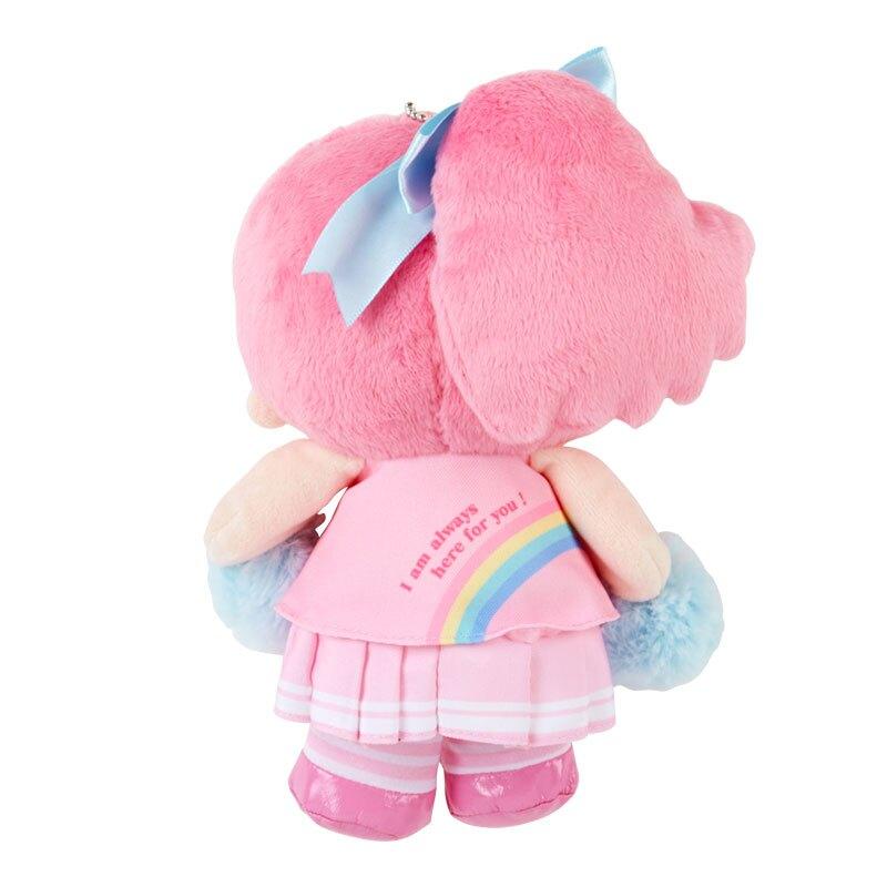 小禮堂 雙子星LALA 絨毛吊飾 附頸掛繩 動動玩偶 玩偶吊飾 (粉藍 應援啦啦隊)
