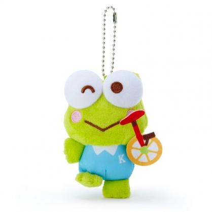 小禮堂 大眼蛙 絨毛吊飾 玩偶吊飾 玩偶鑰匙圈 (綠藍 應援啦啦隊)