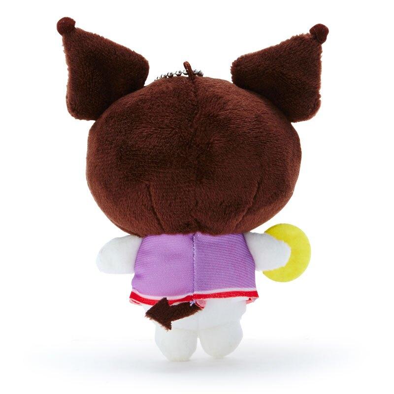 小禮堂 酷洛米 絨毛吊飾 玩偶吊飾 玩偶鑰匙圈 (黑紫 應援啦啦隊)