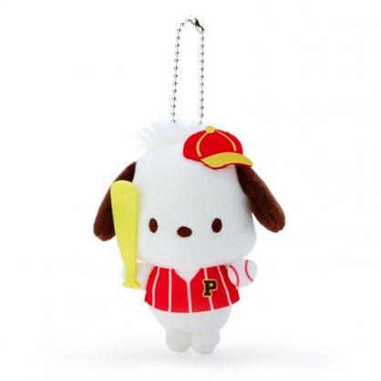 小禮堂 帕恰狗 絨毛吊飾 玩偶吊飾 玩偶鑰匙圈 (紅黃 應援啦啦隊)