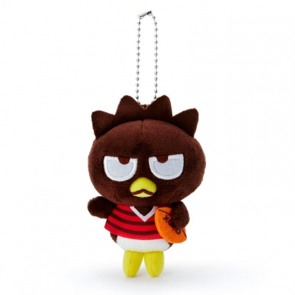 小禮堂 酷企鵝 絨毛吊飾 玩偶吊飾 玩偶鑰匙圈 (黑紅 應援啦啦隊)