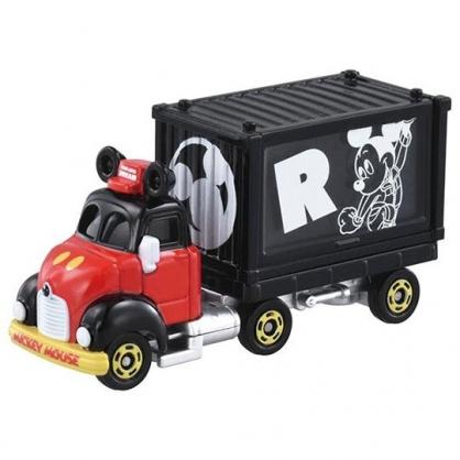 小禮堂 TOMICA多美小汽車 迪士尼 米奇 造型貨櫃車 玩具車 模型車 (黑)