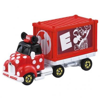 小禮堂 TOMICA多美小汽車 迪士尼 米妮 造型貨櫃車 玩具車 模型車 (紅)