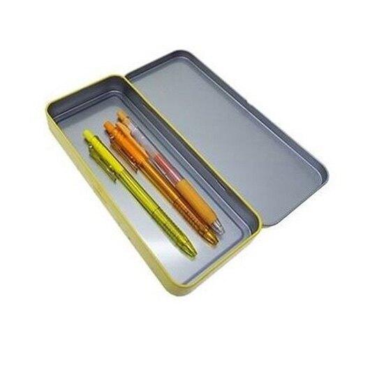小禮堂 神奇寶貝 日製 掀蓋鐵筆盒 鉛筆袋 鉛筆盒 文具盒 (黃 招手)