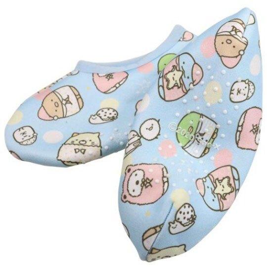 小禮堂 角落生物 成人室內保暖襪 短襪 室內襪 室內鞋 腳長20-22cm (藍 睡衣)