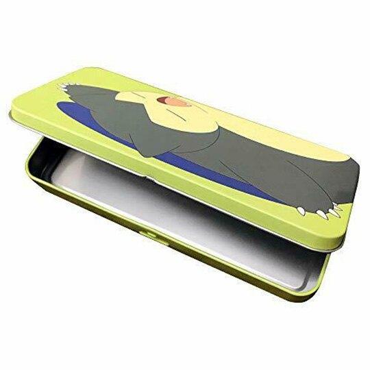 小禮堂 神奇寶貝 卡比獸 日製 掀蓋鐵筆盒 鉛筆袋 鉛筆盒 文具盒 (綠 睡覺)