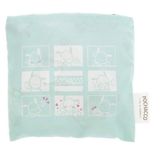 小禮堂 帕恰狗 折疊尼龍環保購物袋 環保袋 側背袋 (綠 格圖)