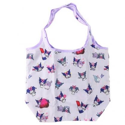 小禮堂 酷洛米 折疊尼龍環保購物袋 環保袋 側背袋 (紫 招手)