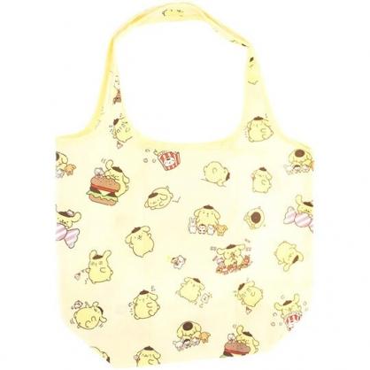 小禮堂 布丁狗 折疊尼龍環保購物袋 環保袋 側背袋 (黃 抱抱)