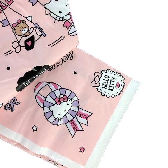 小禮堂 Hello Kitty 防水束口側背袋 鞋袋 游泳袋 束口提袋 銅板小物 (粉紫 蘋果樹)