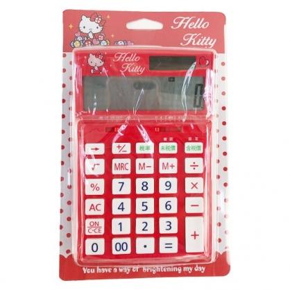 小禮堂 Hello Kitty 12位元計算機 太陽能計算機 商用計算機 (紅 糖果)