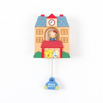 小禮堂 Hello Kitty 房屋造型磁鐵 木磁鐵 冰箱磁鐵 吸鐵 (紅棕)
