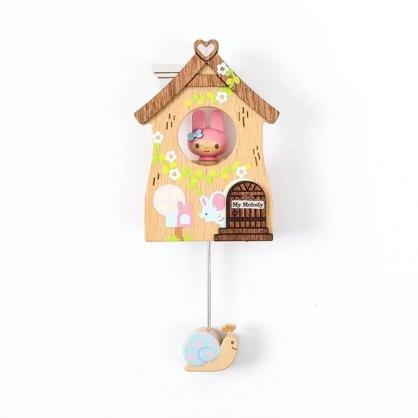 小禮堂 美樂蒂 房屋造型磁鐵 木磁鐵 冰箱磁鐵 吸鐵 (粉棕)