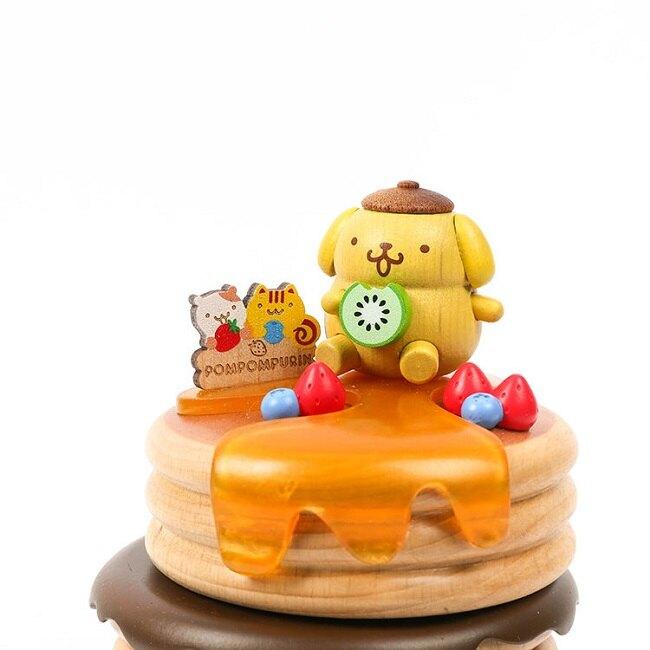 小禮堂 布丁狗 造型木質音樂鈴 復古音樂鈴 旋轉音樂鈴 (黃棕 鬆餅)