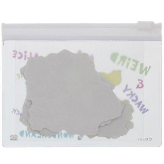 小禮堂 迪士尼 愛麗絲 日製 造型貼紙組 附收納包 裝飾貼紙 手帳貼紙 (藍 蝴蝶)