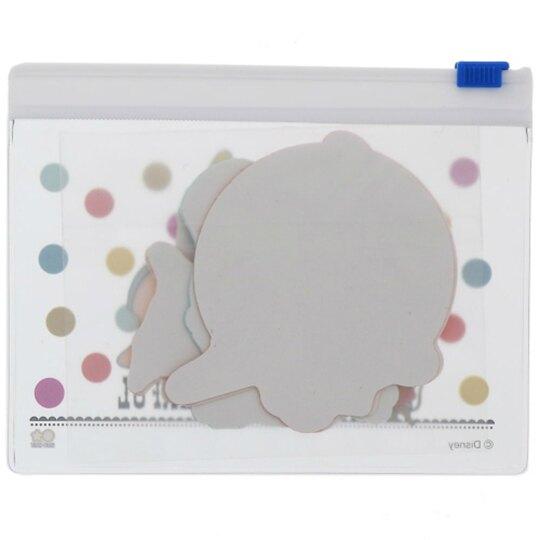 小禮堂 迪士尼 小飛象 日製 造型貼紙組 附收納包 裝飾貼紙 手帳貼紙 (黃 星星)
