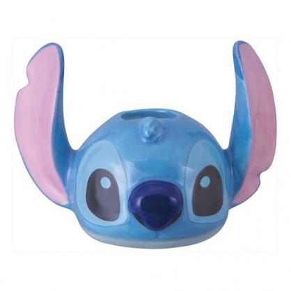 小禮堂 迪士尼 史迪奇 造型陶瓷牙刷架 牙刷座 筆架 (藍 大臉)