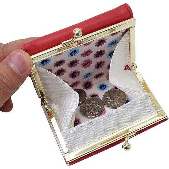 小禮堂 不二家PEKO 皮質口金短夾 短皮夾 零錢包 口金包 (紅 糖果)