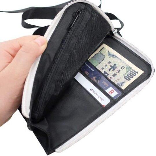 小禮堂 蠟筆小新 直式尼龍斜背手機包 票卡零錢包 斜背包 隨身背包 (黑 轉身)