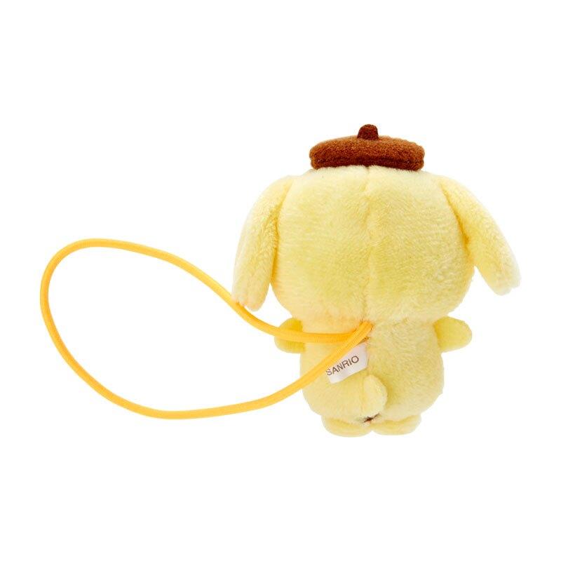 小禮堂 布丁狗 造型絨毛彈力髮圈 玩偶髮束 絨毛髮圈 (黃棕 全身)