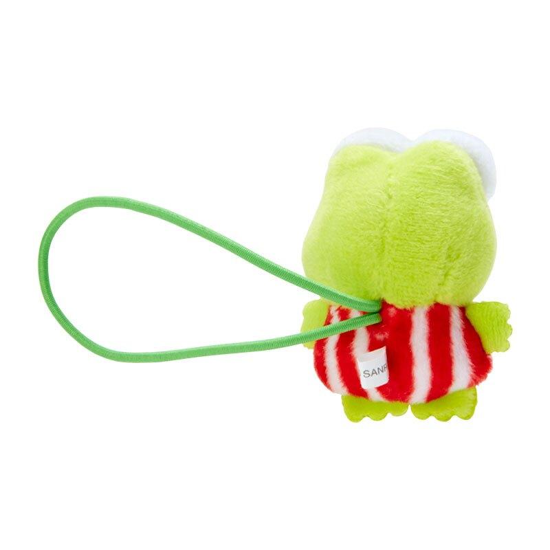 小禮堂 大眼蛙 造型絨毛彈力髮圈 玩偶髮束 絨毛髮圈 (綠紅 全身)