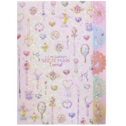 小禮堂 美少女戰士 日製 A4分類文件夾 資料夾 檔案夾 L夾 (紫白 滿版)