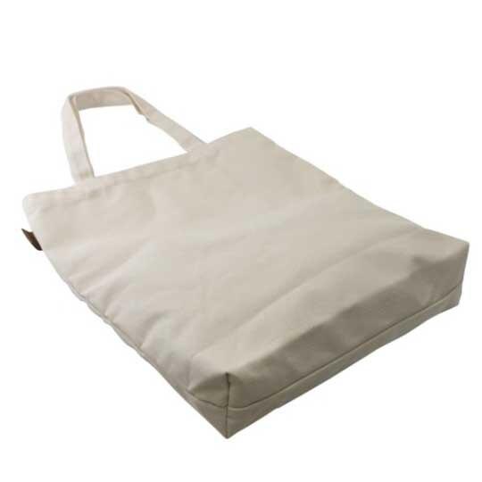 小禮堂 角落生物 直式帆布側背袋 帆布手提袋 書袋 帆布袋 (米 排坐)