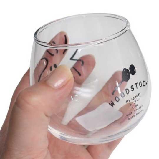 小禮堂 史努比 糊塗塔客 日製 無把透明玻璃杯 牛奶杯 飲料杯 水杯 320ml 金正陶器 (大臉)