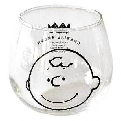 小禮堂 史努比 查理布朗 日製 無把透明玻璃杯 牛奶杯 飲料杯 水杯 320ml 金正陶器 (大臉)
