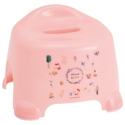 小禮堂 Hello Kitty 塑膠兒童浴椅 淋浴椅 矮凳 小椅子 (淡粉 動物)