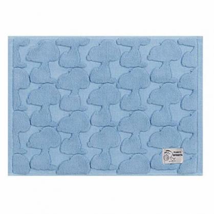 小禮堂 史努比 毛巾腳踏墊 浴墊 地墊 踏墊 吸水腳踏墊 43x60cm (藍 滿版)