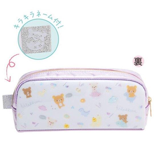 小禮堂 懶懶熊 防水拉鍊筆袋 防水筆袋 鉛筆盒 鉛筆袋 (紫白 恐龍裝)